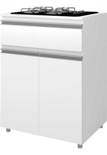 Armário De Cozinha Para Cooktop 2 Portas 1 Gaveta Asm 186 Branco - Móvel Bento