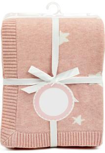 Manta De Tricô Piccolo Bambino Para Bebê - Estrela Rosa