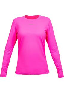 Camiseta Curtlo Active Fresh Ml - Fem. Rosa Gg - Kanui