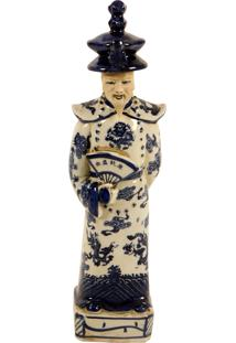 Escultura Decorativa Imperador De Porcelana Guofeng