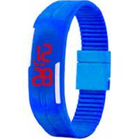 e2a99277d92 Relógio Led Azul - Pulseira Ajustável Relógio Led - Pulseira Ajustável -  Azul