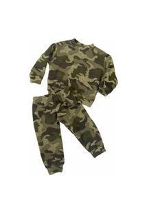 Pijama Térmico Infantil Fleece Camuflado