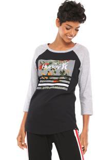 1d5da60fb9 Camiseta Gola V Hurley feminina