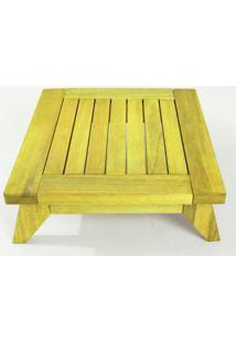 Banco Meditação Zen Pequeno Estrutura Amarelo + Almofada 45Cm - 61672 - Sun House