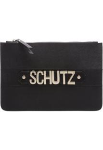 Clutch Golden Logo Black   Schutz