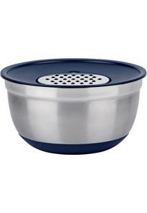 Conjunto De Bowls Com Ralador 3 Em 1 German - Euro Home - Azul