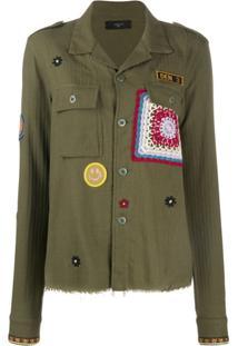 Amiri Camisa Militar Mangas Longas - Verde