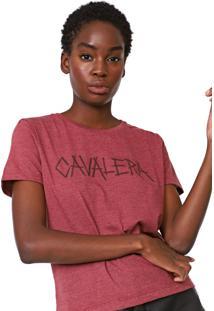 Camiseta Cavalera Lettering Bordô