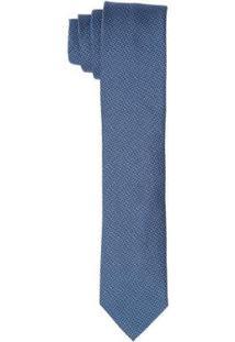 Gravata Buckman Tradicional Micro Desenho Masculina - Masculino-Azul Claro