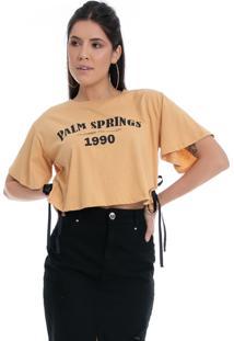 T-Shirt Eco Pkd Palm Springs Amarela