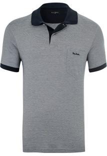 Polo Fio De Escócia Com Bolso Grey Details