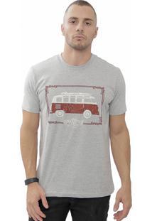 Camiseta Cheiro De Gasolina Kombi Good Times Cinza
