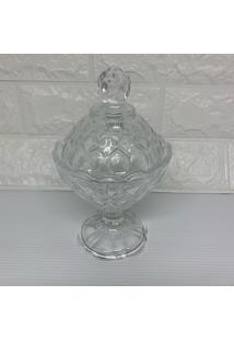 Bomboniere Potiche De Cristal Transparente - Transparente - Feminino - Dafiti