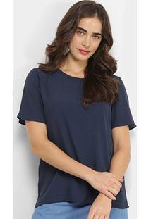 Camiseta Forum Basic Viscose Feminina - Feminino-Azul Claro