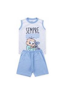 Pijama Infantil Turma Da Mônica Branco 61040009 - Evanilda