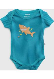 Body Pimpolho Infantil Tubarão Azul