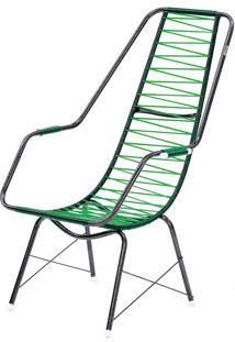 Cadeira De Fio Trançado Eletrostático Plus Verde Fabone Móveis Tubulares