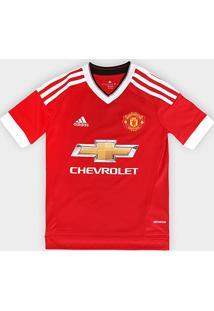 Camisa Adidas Manchester United Home 15/16 S/Nº Infantil - Masculino