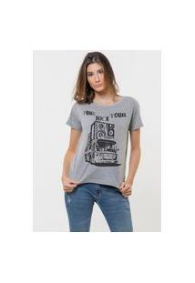 Camiseta Jay Jay Básica Punk Rock Tour Cinza Mescla
