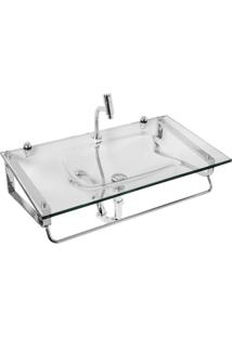 Gabinete Para Banheiro De Vidro Hércules Astra Transparente