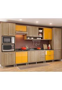 Cozinha Compacta 8 Peças 5832-S16 - Sicília - Multimóveis - Argila / Amarelo