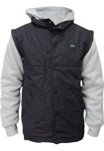 Jaqueta Moletom Oakley Sport Puff Fleece Masculino - Masculino-Preto c41bb7c28eb