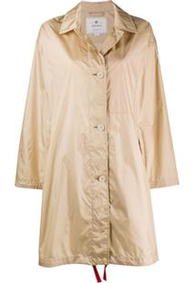 Woolrich Trench Coat Com Abotoamento Simples - Neutro