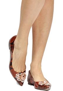 Sapatilha Shoestock Cobra Pedraria - Feminino