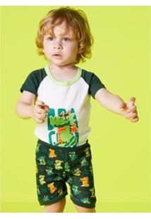 Pijama Infantil Puket Dragão - Masculino-Verde