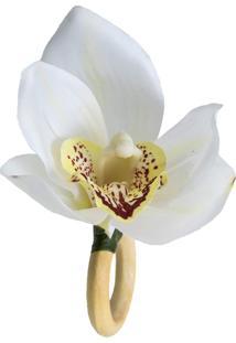 Porta Guardanapo Lola Home Orquidea M 13 Branco