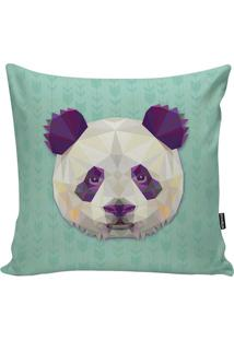 Capa Para Almofada Geometric Panda- Azul Celeste & Roxa