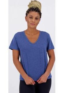 Camiseta Olympikus Authentic Feminina Marinho Mescla - Feminino-Azul
