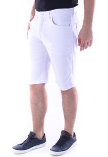 Bermuda 636 Sarja Regular Traymon Branco