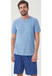 Pijama Masculino Curto 30056 Abacaxi Cor Com Amor