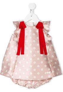 Hucklebones London Vestido Com Poás - Rosa