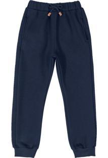 Calça Infantil Jogger Básica Azul