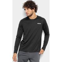 4ca44ffa69c Camiseta Adidas Design 2 Move Manga Longa Masculina - Masculino-Preto