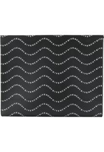 Givenchy Wave Logo Clutch - Preto