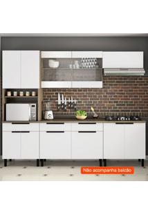 Cozinha Compacta Itamaxi 7 Pt 1 Gv Branca E Castanho