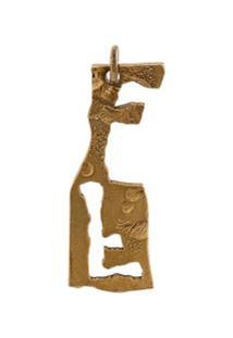 Acne Studios Alphabet F Necklace - Dourado