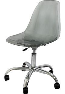 Cadeira Eames Com Rodizio Policarbonato Fume - 19294 - Sun House