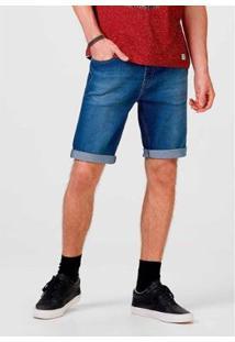 Bermuda Jeans Slim Com Elastano Masculina - Masculino