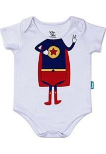 Body Jokenpô Bebê Super Jok Masculino - Masculino-Branco