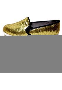 Slipper Comfort Bfprime Glitter Dourado