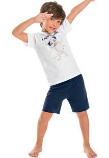 Pijama Infantil Pug Boys Branco