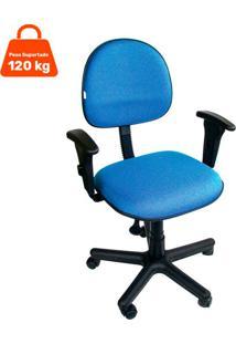 Cadeira De Escritório Secretária Giratória Álvaro Azul