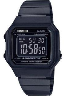 Relógio Unissex Casio Vintage Digital B650Wb 1Bdf - Unissex-Preto