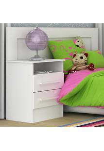 Cabeceira De Solteiro/Infantil Com Criado-Mudo 1D081 Branco - Rodial
