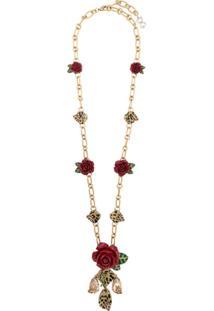 Dolce & Gabbana Colar Com Pingentes Floral - Dourado