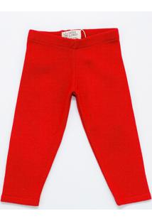 Calça Mini Lord - Samuel Menino Bebê - Vermelho